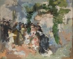 Живопись | Игнасио Пиназо Камарленх | La fiesta,  1890