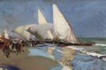 Живопись | Joaquín Sorolla y Bastida | Beach at Valencia, 1908