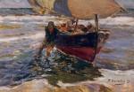 Живопись | Joaquín Sorolla y Bastida | Beaching the Boat, 1908