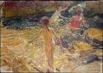 Живопись | Joaquín Sorolla y Bastida | El baño, 1905