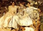 Живопись | Joaquín Sorolla y Bastida | My Wife and Daughters in the Garden, 1910