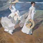 Живопись | Joaquín Sorolla y Bastida | Walk on the Beach or Paseo a orillas del mar, 1909