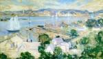 Живопись | John Henry Twachtman | Gloucester Harbor, 1900