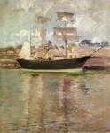 Живопись | John Henry Twachtman | Gloucester Schooner, 1900