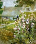Живопись | John Henry Twachtman | Hollyhocks, 1892