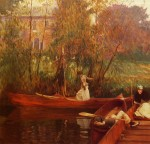 Живопись | John Singer Sargent | A boating party, 1889