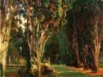 Живопись | John Singer Sargent | Falconieri Gardens, Frascati, 1907