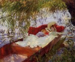 Живопись | John Singer Sargent | Two Women Asleep in a Punt under the Willows, 1887