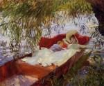 Живопись | Джон Сингер Сарджент | Two Women Asleep in a Punt under the Willows, 1887