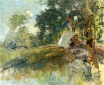 Живопись | Джулиан Олден Уир | Landscape with Seated Figure