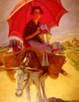 Живопись | Laureano Barrau | The Red Parasol