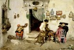 Живопись | Луис Хименес Аранда | Figaro's Shop, 1875