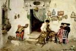 Живопись | Luis Jiménez Aranda | Figaro's Shop, 1875
