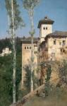 Живопись | Martín Rico y Ortega | La Torre de las Damas en la Alhambra de Granada, 1871