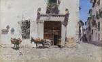 Живопись | Martín Rico y Ortega | Puerta de una casa en Toledo, 1875 - 1878