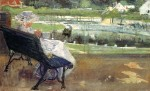 Живопись | Мэри Кассат | Лидия на скамье вяжет крючком, 1881