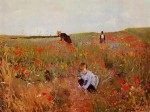 Живопись | Mary Stevenson Cassatt | Red poppies, 1880