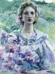 Живопись | Роберт Льюис Рид | Girl with Flowers