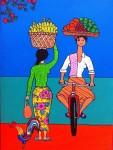 Живопись | Stéphane Delaprée | Fruits Seller Bikking