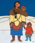 Живопись | Stéphane Delaprée | Happy Inuit Mother
