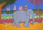 Живопись | Stéphane Delaprée | Kids on Elephant