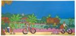 Живопись | Stéphane Delaprée | Panorama campagne Cambodge