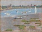 Живопись | Теодор Робинсон | Low Tide Riverside Yacht Club, 1894