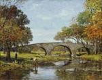 Живопись | Theodore Robinson | The Old Bridge, 1890