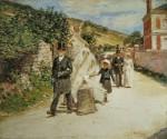 Живопись | Theodore Robinson | The Wedding March, 1892