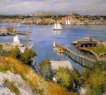 Живопись | Willard Metcalf | Gloucester harbour Sun, 1895