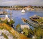 Живопись | Willard Metcalf | Gloucester harbour Sun, 1895