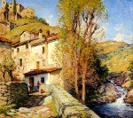 Живопись | Willard Metcalf | Old Mill, Pelago, Italy, 1913