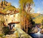 Живопись | Willard Metcalf | Old Mill, Pelago, Italy, 1913