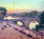 Живопись | Willard Metcalf | Pont Royal, 1913