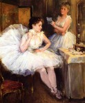 Живопись | Willard Metcalf | The Ballet Dancers aka The Dressing Room, 1885