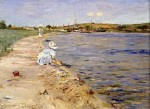 Живопись | William Merritt Chase | Beach Scene - Morning at Canoe Place, 1896