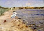 Живопись | William Merritt Chase | Beach Scene - Morning at Canoe Place, 1896