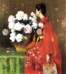 Живопись | William Merritt Chase | Peonies, 1897