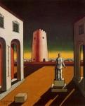 Живопись | Джорджо де Кирико | Пьяцца д'Италия с красной башней, 1943
