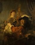 Живопись | Рембрант | Блудный сын в таверне, 1635