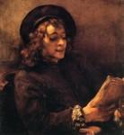 Живопись | Рембрант | Титус читает, 1657
