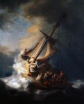 Живопись | Рембрант | Христос во время шторма на море Галилейском, 1633
