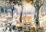 Живопись | Charles Ephraim Burchfield | Autumnal Fantasy, 1917-44