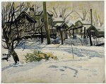 Живопись | Charles Ephraim Burchfield | Backyards in Winter, 1917
