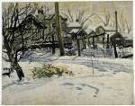 Живопись | Чарльз Бёрчфилд | Дворы зимой, 1917