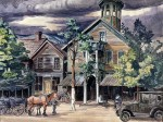 Живопись | Charles Ephraim Burchfield | Old Tavern at Hammondsville, Ohio, 1926-28