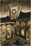 Живопись | Charles Ephraim Burchfield | Rainy Night, 1918