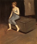Живопись | Эдвард Хоппер | Сидящая модель, 1902