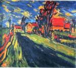 Живопись | Erich Heckel | Dangaster Village Landscape