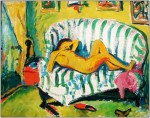 Живопись | Эрих Хеккель | Спящая женщина, 1909